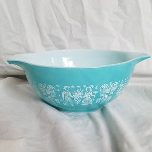 VTG Pyrex Blue Amish Butterprint Cinderella Bowl